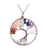 Variation #2 of SEDmart 7 Chakra Tree Of Life Pendant Necklace Copper Ro... - $19.50