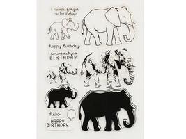 Elephants Birthday Stamp Set