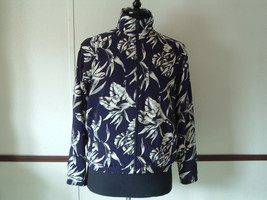 EP Pro brand  blue jacket with tan leaf pattern siize  womens small golf... - $14.35