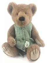 "Boyds Bears Marie B. Bearlove 2000 14"" Plush Teddy In Green Dress 912626 - $17.77"