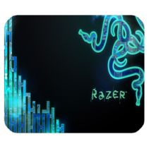 Mouse Pad Razer Logo In Special Blue Design For Popular Game Animation F... - $6.00