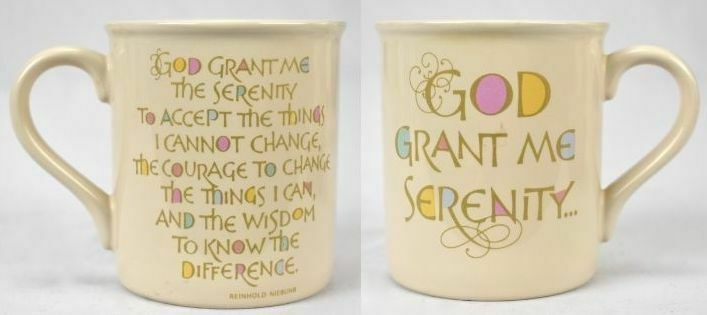 Primary image for Vintage 1986 Hallmark Cards God Grant Me Serenity Coffee Mug
