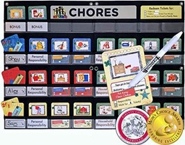 NEATLINGS Chore Chart System | 1-3 Kids | 80+Chores | Dk Blue, Red, Yell... - $68.95