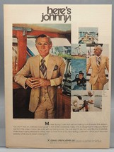 Vintage magazine ad print advertising design johnny carson apparel - $30.00