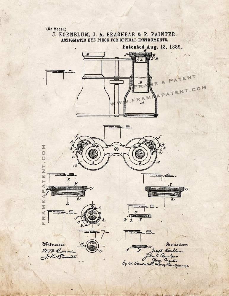 Primary image for Astigmatic Eye-Piece For Optical Instruments Patent Print - Old Look