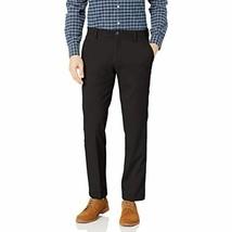 Dockers Men's Straight Fit Stretch Easy Khaki Pants (Black, 38X30) - $31.68