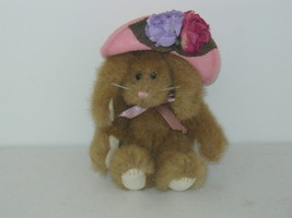 Boyd's Bear. Bunny Rabbit with pink hat and flowers. - $15.25