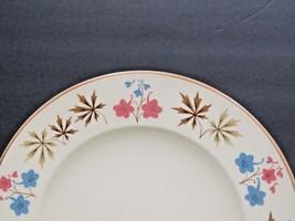 """Set of 3 Larkspur Franciscan Dinner Plates 10.5"""" Flower Leaves  - $33.66"""