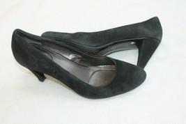 Calvin Klein Size 8 M Black Suede Classic Onyx Pumps Heel Shoes Bryanna - $19.80