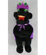 "Plush Appeal Mardi Gras Plush Black Animal with Purple Crown 12"" - $17.81"