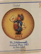 MJ Hummel Annual Plate 1983 w/ Box and booklet Mailman Postman - $11.59