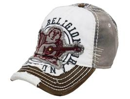 True Religion Men's Premium Vintage Distressed Buddha Trucker Hat Cap TR1101 image 13