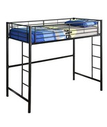 Walker Edison Twin Metal Loft Bed - $199.00