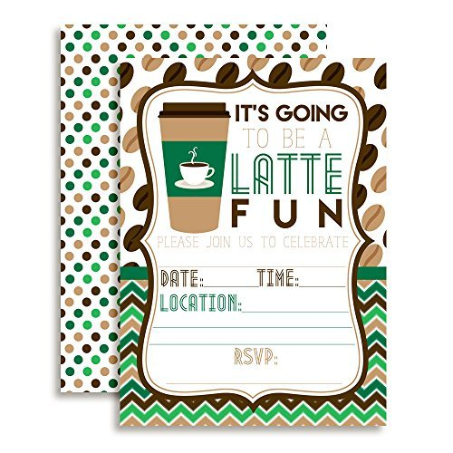 American greetings envelope 37 listings latte fun green and brown coffee birthday party invitations ten 5x7 fill in c 2231 advanced search for american greetings envelope m4hsunfo