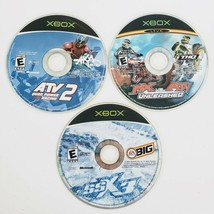 XBOX Original SSX 3 - MX Vs. ATV - ATV 2 Quad Racing 3 Game Lot Disc Only - $19.75