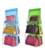 Handbag Storage 6 Pocket Folding Hanging Organizer Wardrobe Sundry Shoe ... - £7.39 GBP