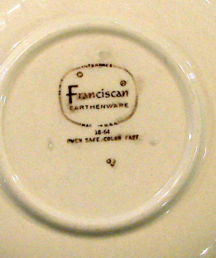 SET 5 Vintage Franciscan Apple Tea Cup & Saucer Set Made in California USA Stamp