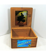 "Cigar Box Acid Cigars Drew Estate Empty Wood Dovetail Corners 7.3""X 7.3""... - $18.95"