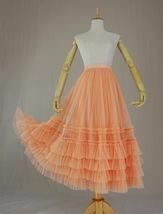 Pink Tiered Tulle Midi Skirt Pink Princess Tulle Tutu Midi Skirt Outfit Wedding  image 7
