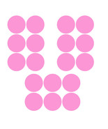 LiteMark 3.5 Inch Pink Removable Dot Decal Stickers for Floors and Walls... - $19.95