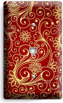 LUXURY GOLD SWIRL DAMASK PATTERN PHONE TELEPHONE WALLPLATE COVER ROOM HO... - $10.77