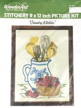 70s Vtg WonderArt Country Kitchen #5271 9x12 Stitchery Kit Embroidery NO... - $12.95