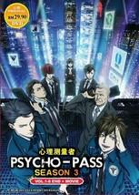 Psycho-Pass Season 3 Vol.1-8 End + Movie English Subtitle Ship From USA