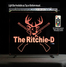 Personalized Deer Rifel Lighted Man Cave Sign - $128.70+