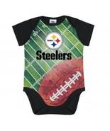 NFL Pittsburgh Steelers Bodysuit Field Design Gerber Infant Select Size - $14.99