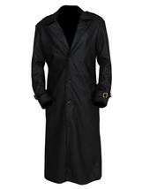 Nick Fury Captain America The Winter Soldier Samuel Jackson Black Leather Coat image 1