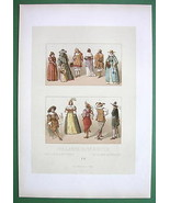 HOLLAND 17th C Costume Zeeland Friesians - COLOR Litho Print by Racinet - $12.15