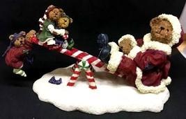 "Boyds Bearstone ""Santa Bear w/Jingle, Jangle & Joe"" #228439- 1E- 2004  - NIB - $29.99"