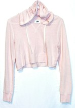 Old Navy Women's Pink Long Sleeve Hooded Cropped Shirt Size S