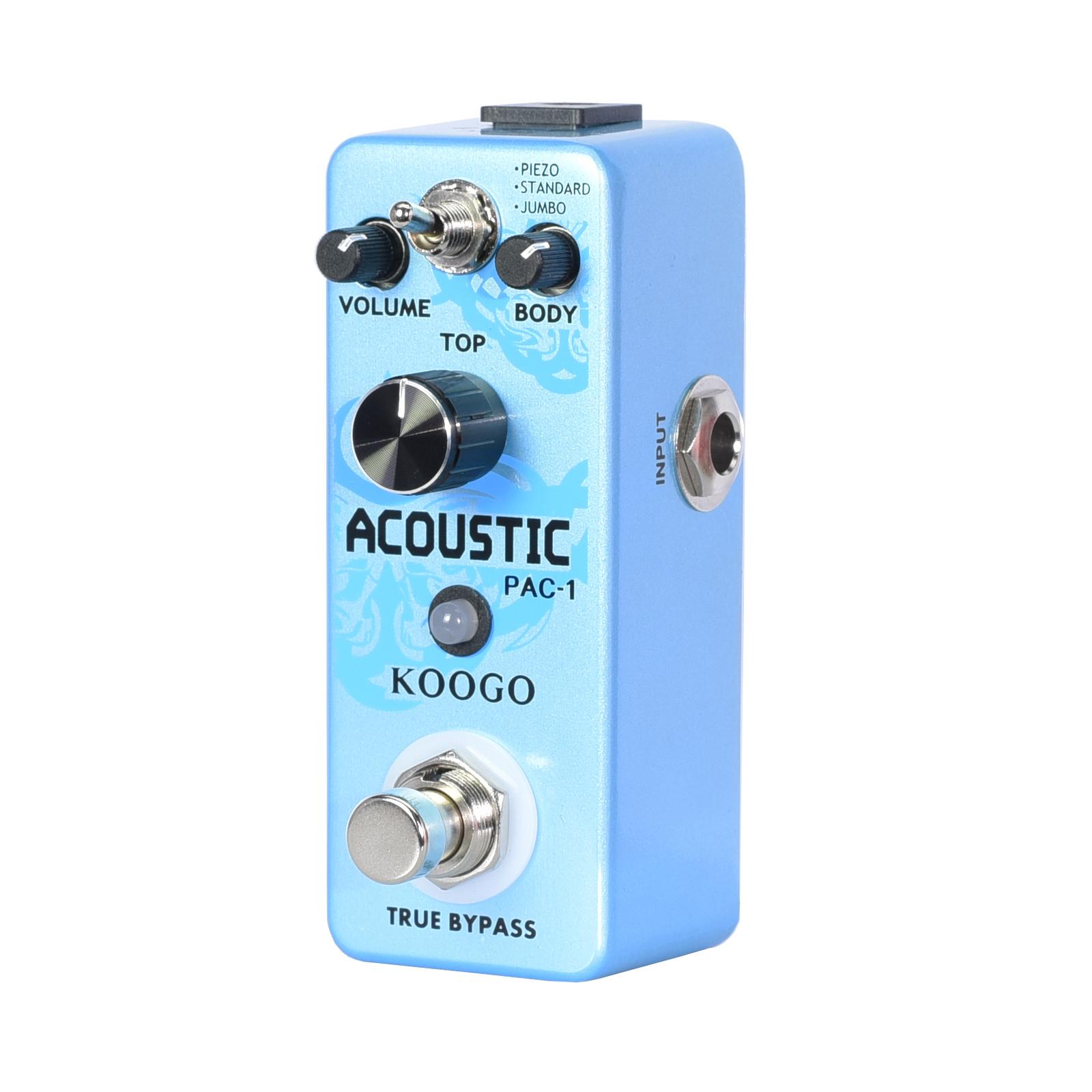 koogo acoustic guitar effect pedal acoustic guitar simulator pedal multi effects. Black Bedroom Furniture Sets. Home Design Ideas