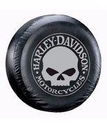 """Harley Davidson Gray Willie G Skull Spare Tire Cover Adjustable Fits 27""""... - $26.95"""