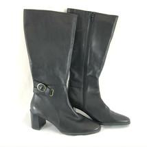 Aerosoles Womens Boots Knee High Block Heel Zipper Black Size 9 - $21.28