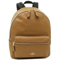 New! Coach F30550 Medium Charlie Backpack in Pebble Leather Light Saddle... - $346.50
