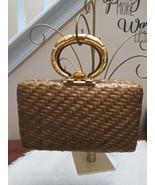 Vtg Retro Italy Designer Signed Rodo Bamboo Wicker Straw Handbag Purse - $245.00