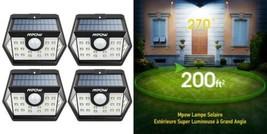 Mpow 4 Packs 20 LED Lampes Solaires Extérieurs Etanche IP65 Détecteur De... - $57.25