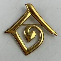United Nations Brooch Pin Pendant Gold Tone Symbol - $19.75