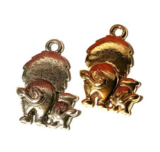 Mother & Baby Lions Backside FINE PEWTER PENDANT CHARM 14mm L x 23mm W x 4mm D