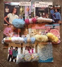 lot DMC assortment of crochet thread Senso Pattern Books Yarn vintage Kn... - $18.70