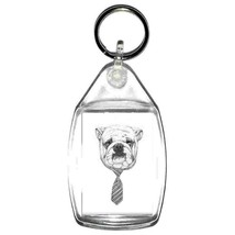 keyring double sided dog with tie design, keychain