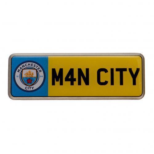MANCHESTER CITY FC PIN BADGE BUTTON ENAMEL OFFICIAL FOOTBALL SOCCER CLUB TEAM image 2