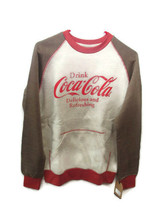 Coca-Cola Kangaroo-Pocket Sweatshirt Rust and Oatmeal medium  BRAND NEW - $33.66