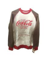 Coca-Cola Kangaroo-Pocket Sweatshirt Rust and Oatmeal medium  BRAND NEW - $33.66