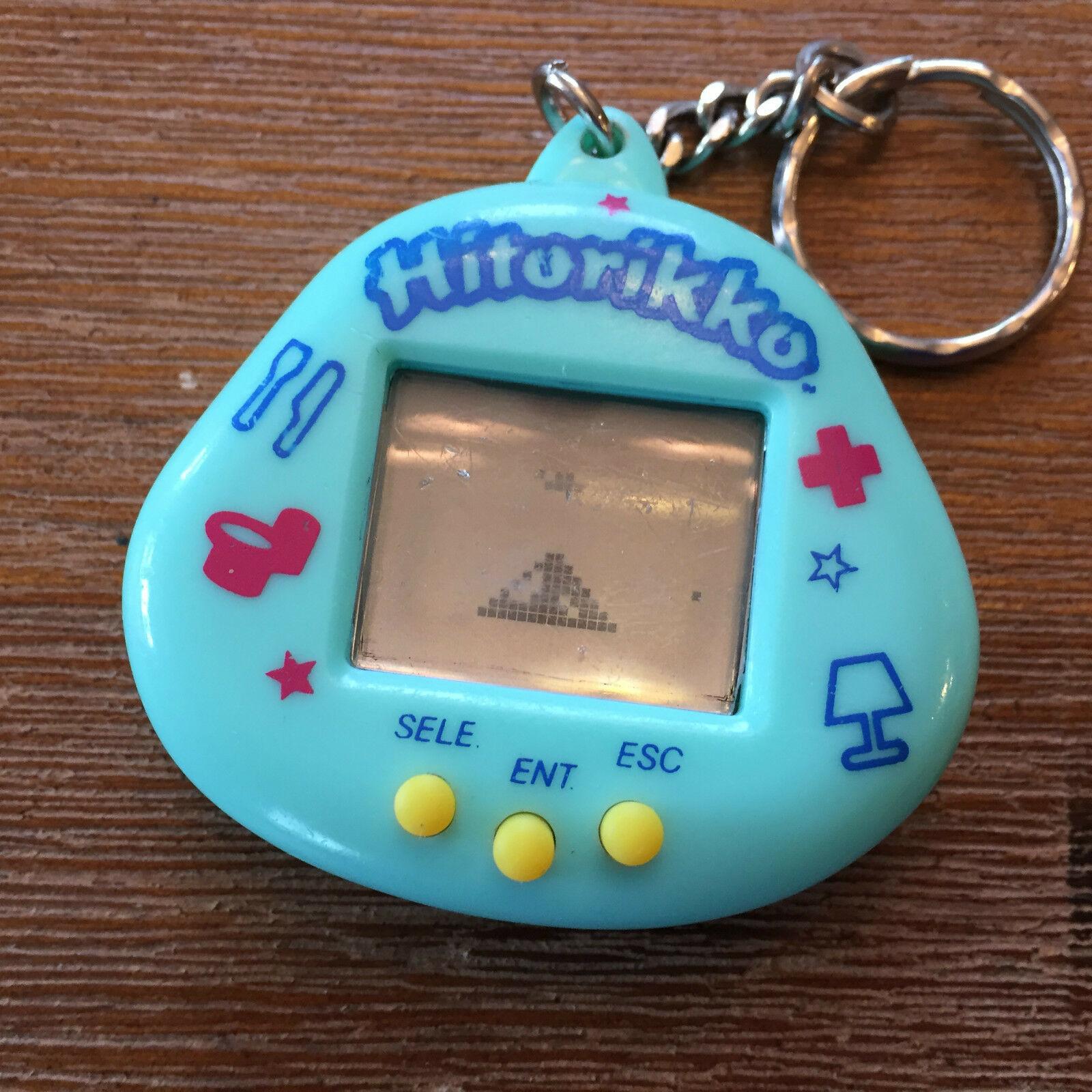 Hitorikko The Virtual Pet Life Interactive Game of Virtual Life Key Chain Blue