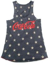 Coca-Cola Stars Racer Tank Top Size Small Blue Patriotic Americana  - BRAND NEW - $29.70