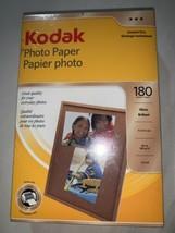 Pack Of Kodak Photo Paper 4 X 6 180 Glossy Sheets Brand New Sealed - $12.45