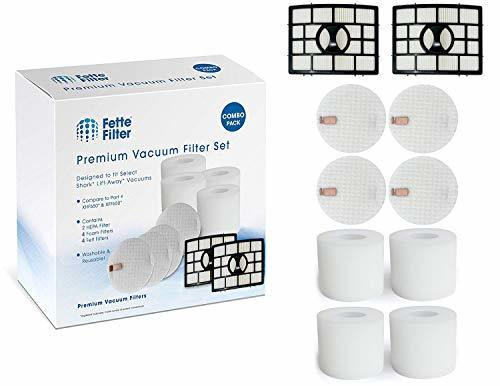 Fette Filter Vacuum Filter Set Compatible with Shark Rotator Powered Lift-Away N
